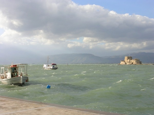 View from Bourtzi ,  Nafplio  (Peloponnese-Greece)
