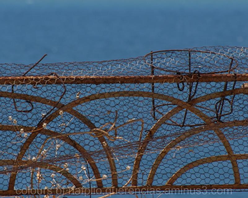 Rusty fence in Nafplio