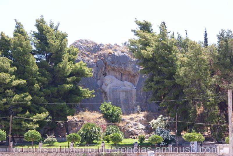 Bavarian lion , Nafplio. Greece