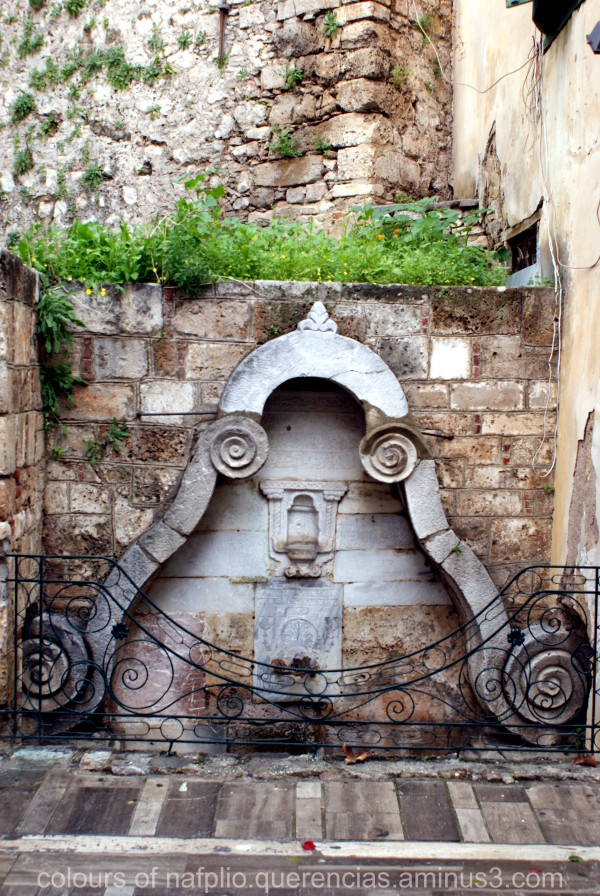 Turkish fountain, Nafplio. Greece