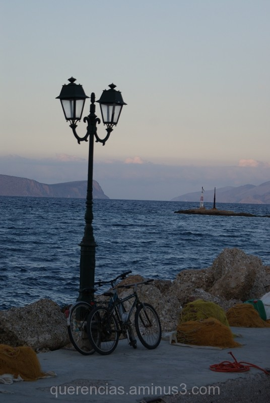 Bycicles in Spetses, Greece