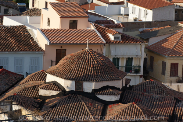 Roofs in Nafplio, Greece.