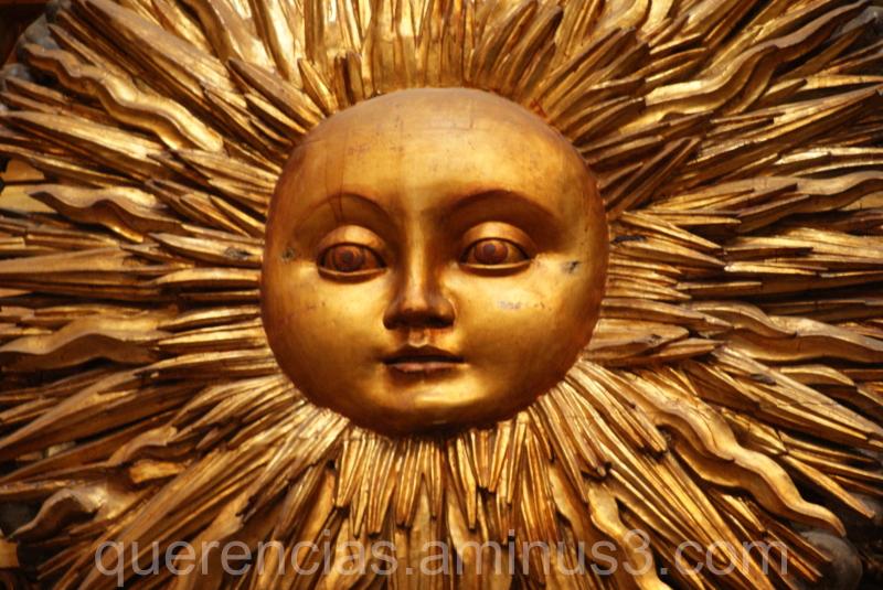 Sun from San Martín Pinario, Santiago.