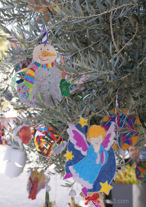 Christmas tree in Nafplio, Greece. 2011