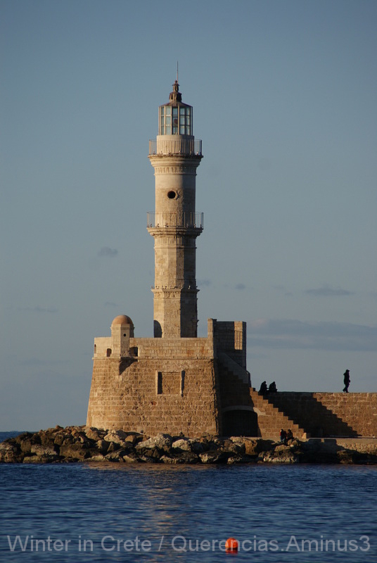 Chania Lighthouse, Crete. Greece