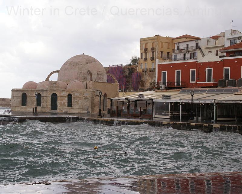 Winter day in Chania, Crete. Greece