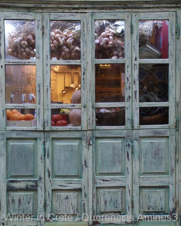 A restaurant's kitchen in Rethymno. Crete