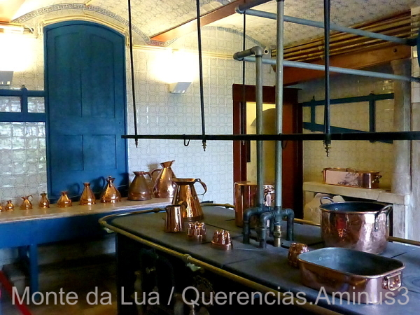 Kitchen in Monserrate Palace, Sintra. Portugal