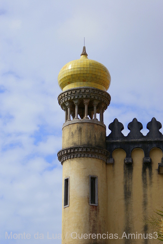 Yellow Cupola, Palace of Pena, Sintra. Portugal