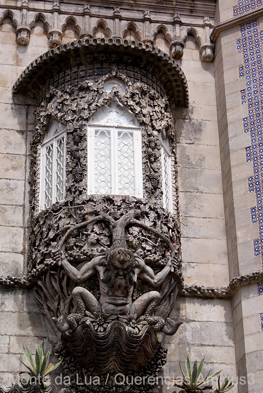 Triton in Palace of Pena, Sintra. Portugal