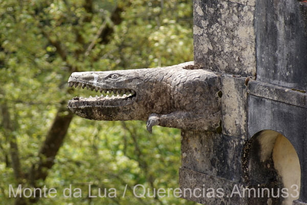 Crocodile Gargoyle in Palace of Pena, Sintra.