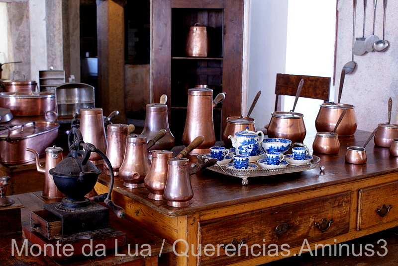Kitchen in  Palace of Pena , Sintra. Portugal