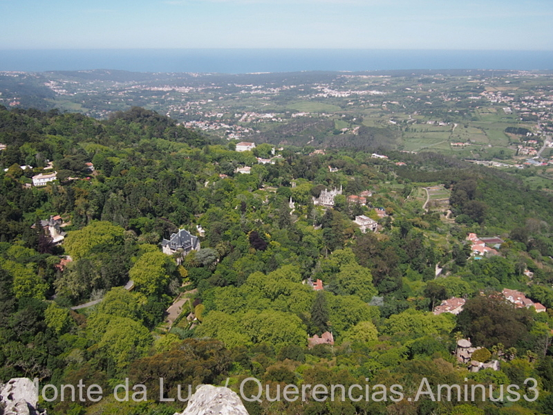 Sintra from the Moorish Castle, Portugal.