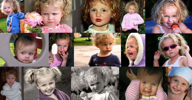The many faces of Paige!  Happy Birthday Sweetie!