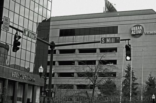 monochrome city urban photography lexington KY