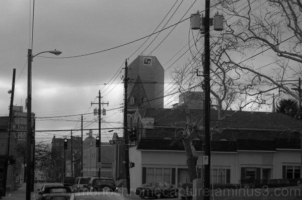 lexington downtown ky monochrome