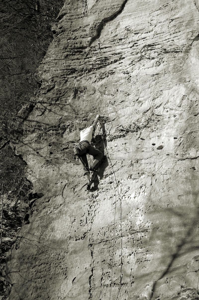 The Brave Rock Climber