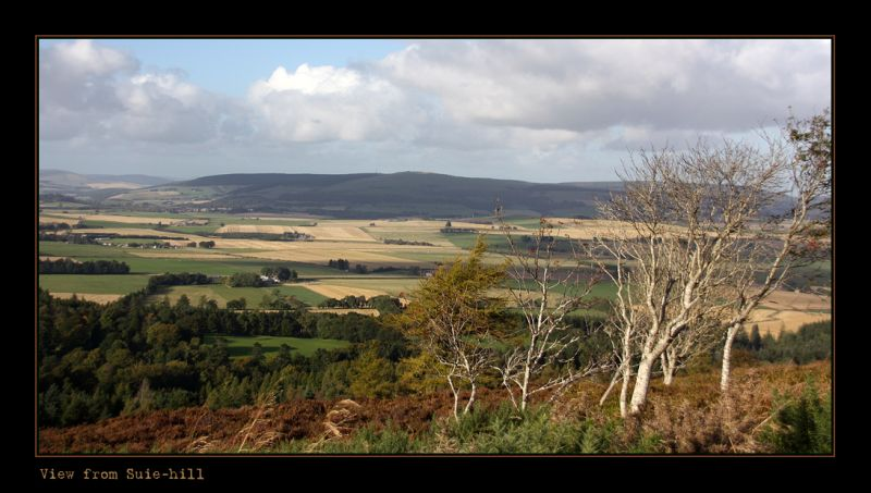 Looking across to Rhynie- Aberdeenshire