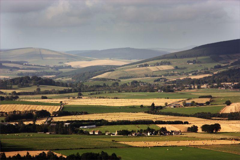 Looking across Clatt - Aberdeenshire