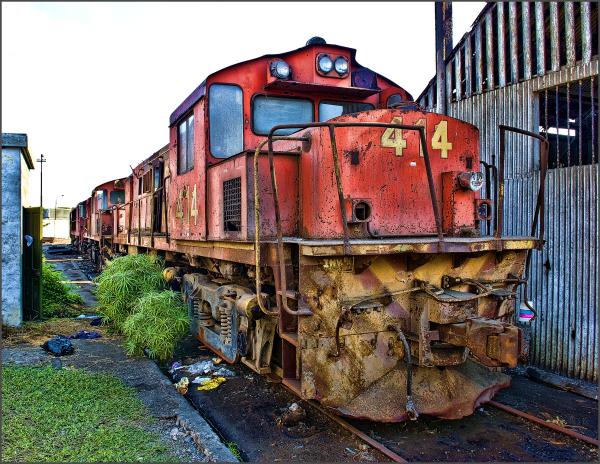Old rail yard, Port of Callao, Peru