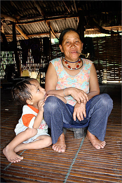 Woman with child in Hill Tribe Vietnam