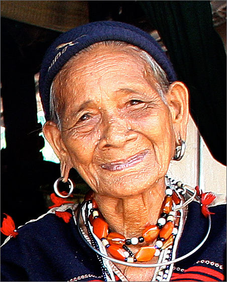 Old woman in Hill Tribe