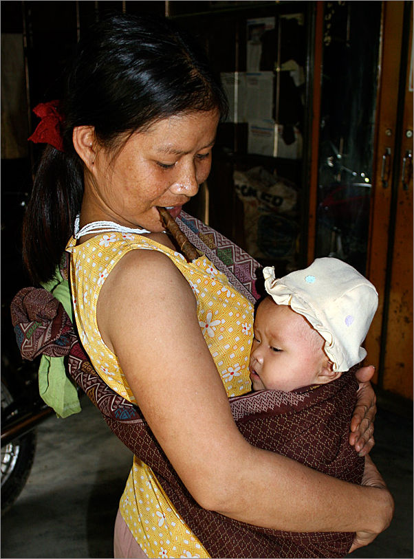 Mother and Child in Hill Tribe Vietnam