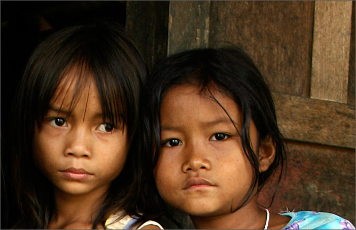 Sisters in Vietnamese Hill Tribe
