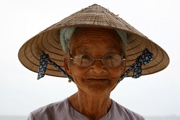 Woman on Cue Dai Beach