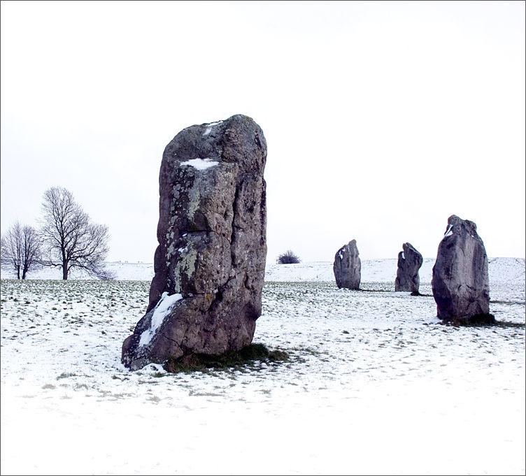 Avebury Stones in the Snow