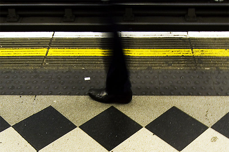 Man Hops on Train