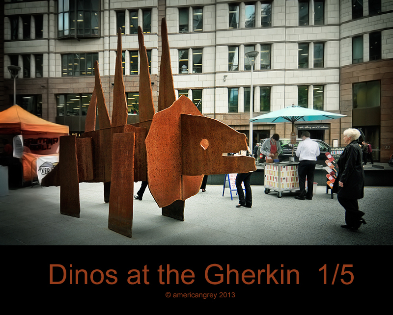 Dinos at The Gherkin