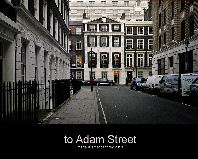 . . to Adam Street