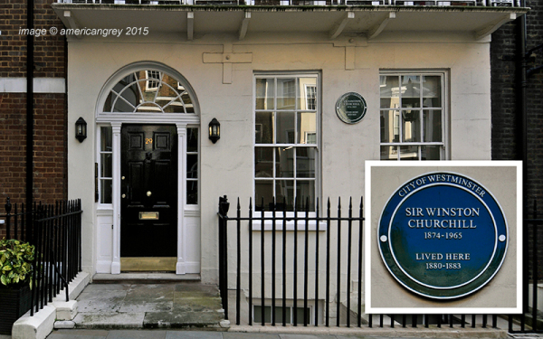 Churchill lived here . .