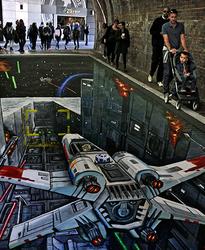 Star Wars . . on the street