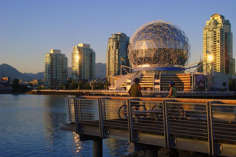 False Creek Sea Wall Vancouver