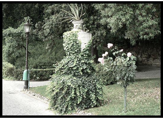 dress form in pope's garden