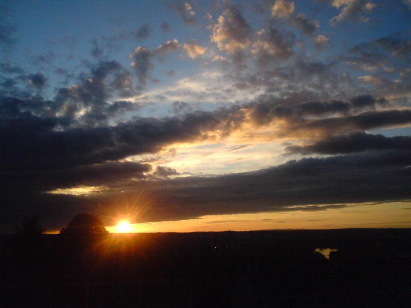 Le coucher de soleil de Vichy