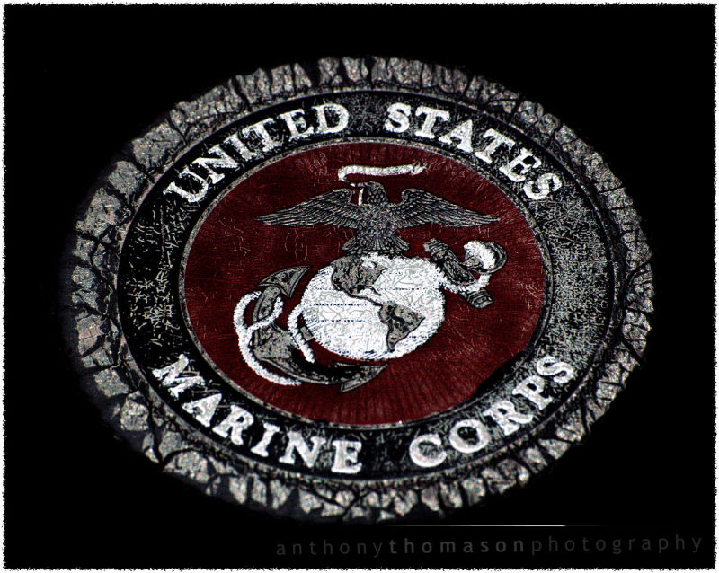 Weathered US Marine Corps emblem
