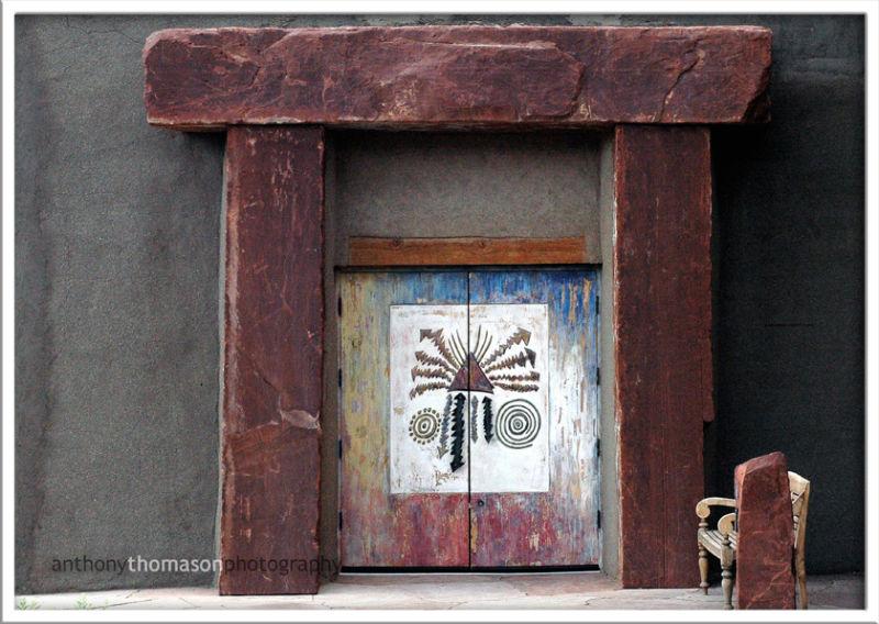 Door of the Pojoaque Pueblo Museum