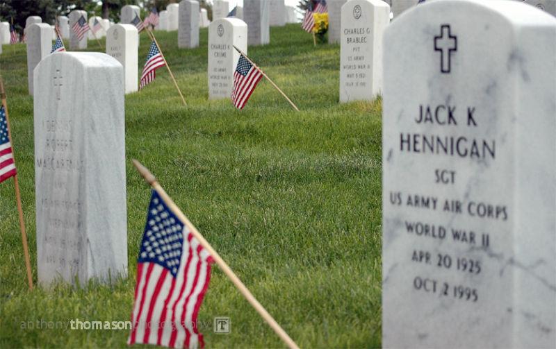 Image of military headstones