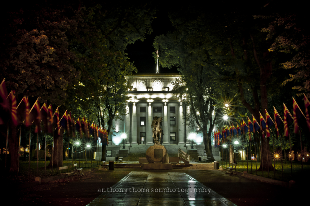 Yavapai County Courthouse at Night