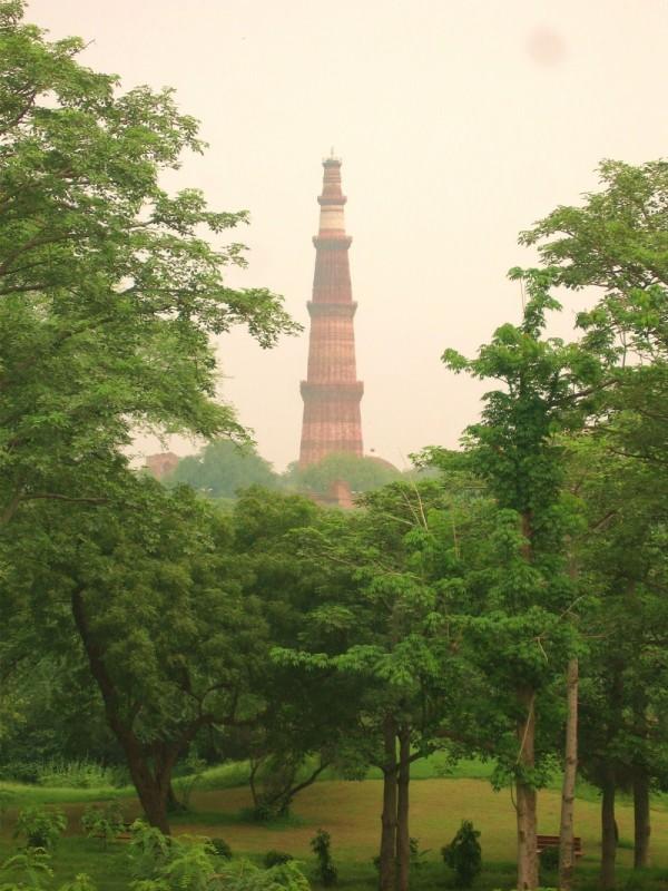 Qutub Minar view from Archeological Park