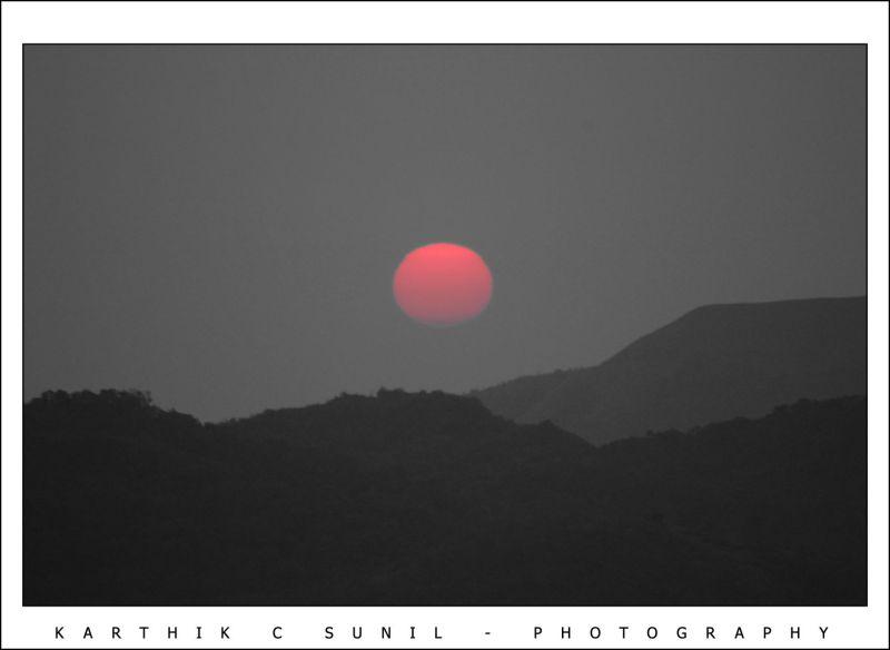 Sunset at Sakaleshpur