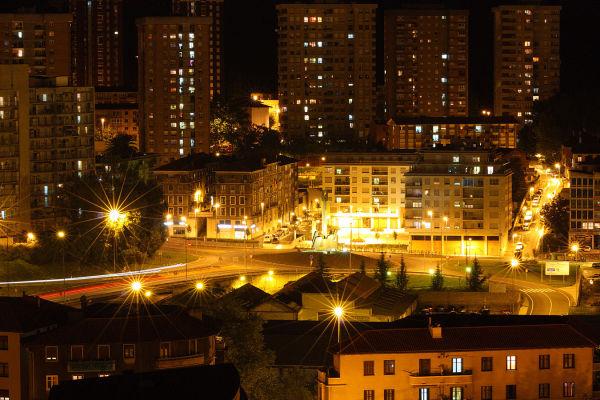 Cities, lights, night