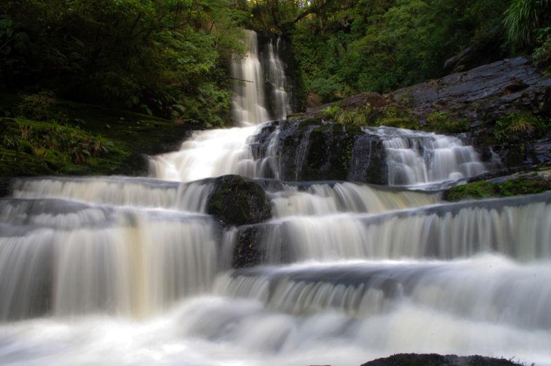 waterfall, falls, New Zealand, NZ, water
