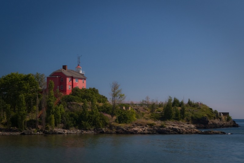 The Marquette Lighthouse in Marquette Michigan