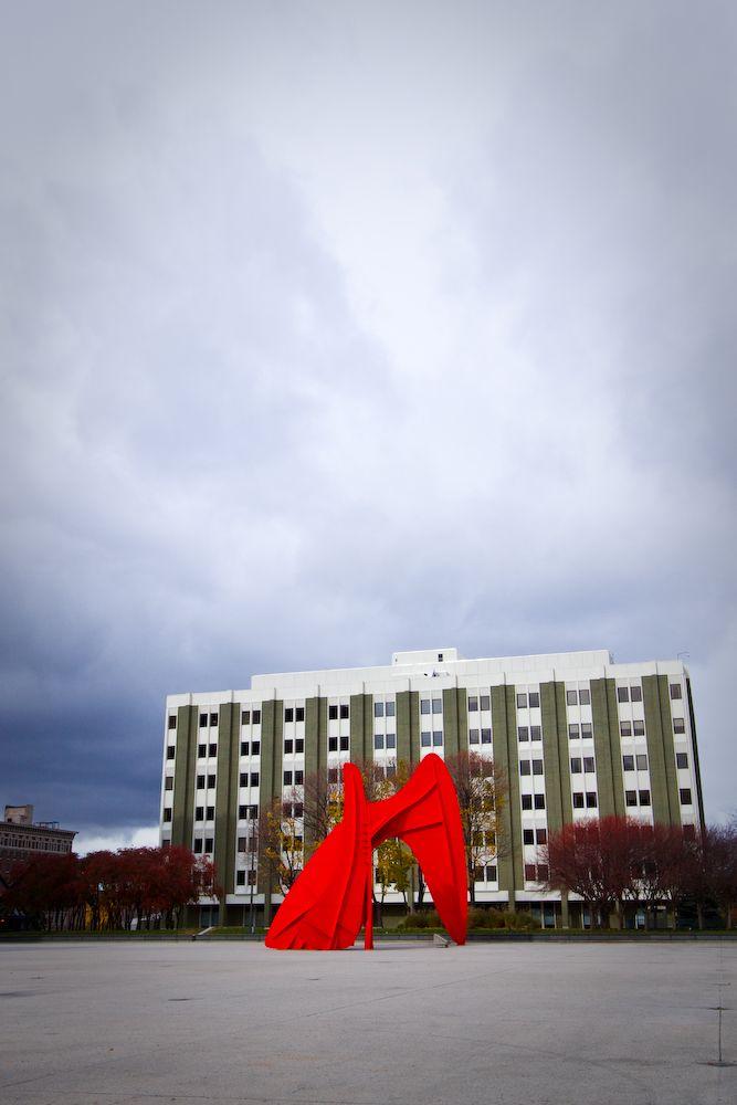 A Calder sculpture in Grand Rapids Michigan