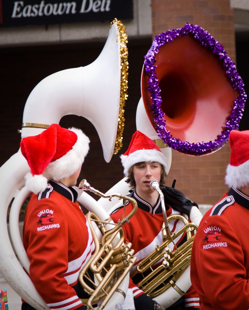 Two Tubas in the Grand Rapids Michigan Christmas