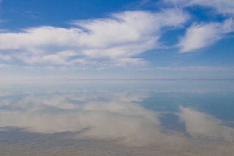 Lake Michigan was mirror smooth Sunday